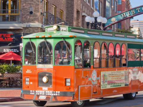 old town trolley, san diego trolley, old town san diego