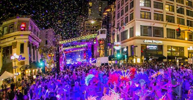 mardi gras san diego, street festival san diego, mardi gras in gaslamp.